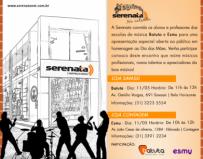 O evento acontece dia 11 de maio, sábado, nas lojas da Serenata em Contagem, de 10h às 12h,  e na filial Savassi, de 11h às 13h.