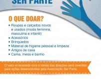 Programa Ser Parte_ Cartaz Doação